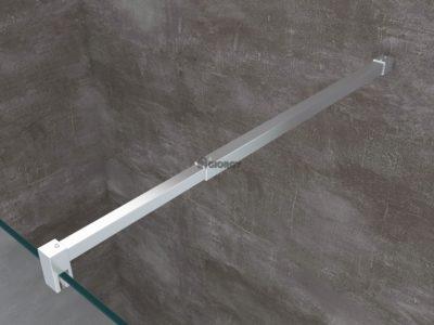 dettaglio profilo alluminio cromato box doccia walk-in