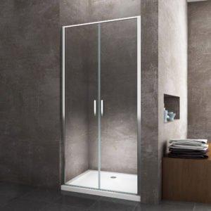 Porta box doccia a battente per installazione in nicchia