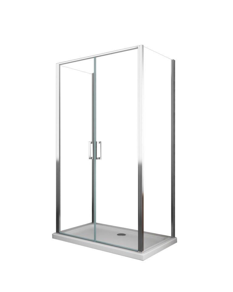 box doccia arredo bagno rettangolare porta a battente