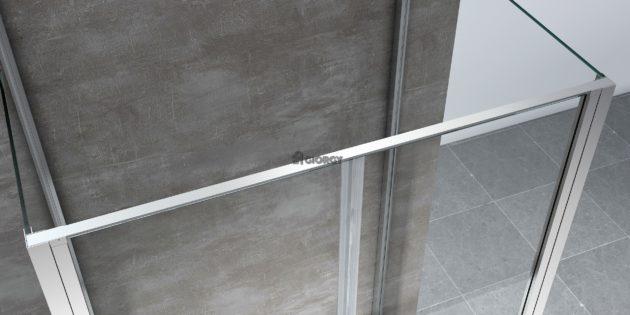 dettaglio profilo box doccia alluminio cromato