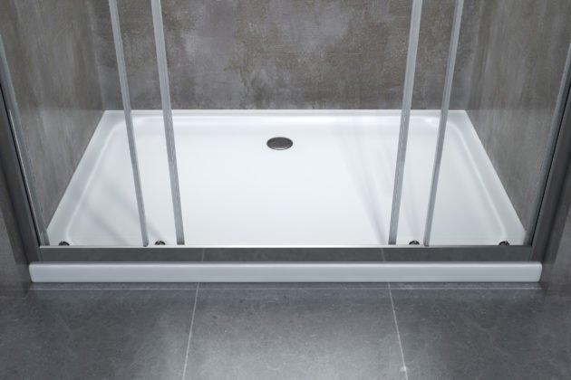 piatto box doccia rettangolare bianco porta scorrevole
