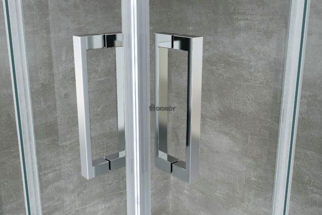 dettaglio maniglia alluminio cromato box doccia arredo bagno