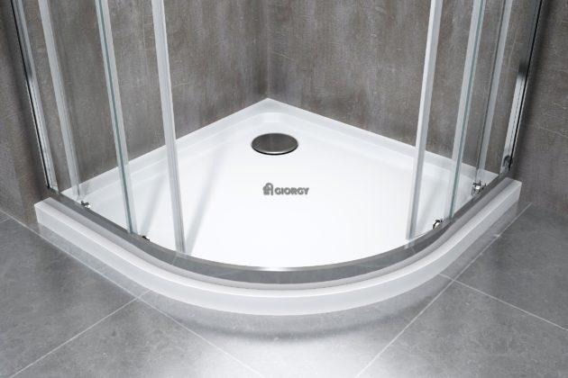 piatto box doccia bianco vetroresina semicircolare