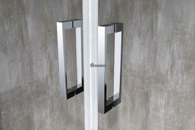 maniglia box doccia alluminio cromato arredo bagno