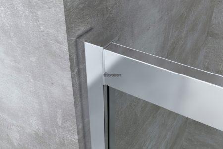 dettaglio profilo box doccia alluminio cromato arredo bagno