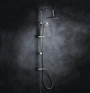 Colonna doccia a ponte con soffione cervicale