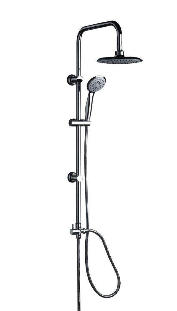 colonna doccia a ponte soffione cervicale rotondo e doccino