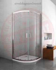box doccia semicircolare porta a battente curva arredo bagno