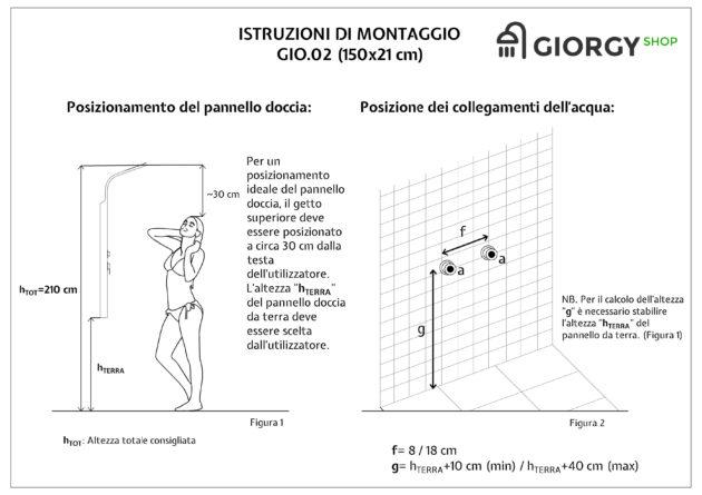 Istruzioni montaggio colonna doccia idromassaggio a quattro vie in acciaio inox spazzolato