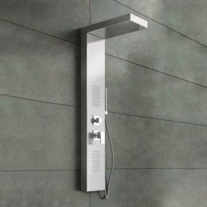 Pannello doccia inox lucido specchio