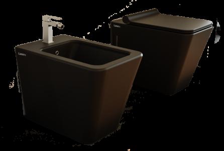 sanitari bagno a terra filo muro wc bidet