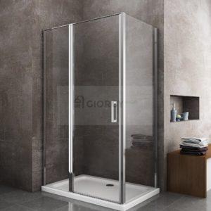 box doccia porta a battente arredo bagno