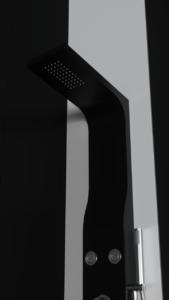 Colonna doccia idromassaggio in alluminio verniciato a polvere nero