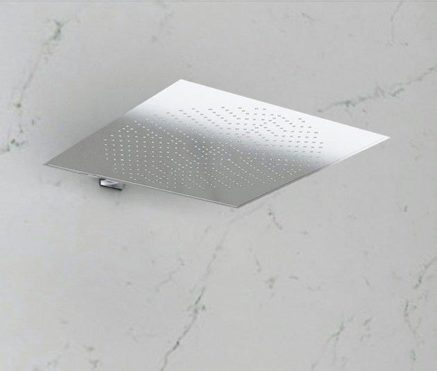 Soffione doccia a parete quadrato in acciaio inox