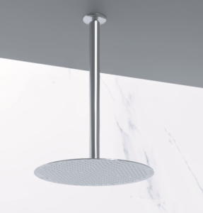Soffione doccia soffitto tondo in acciaio inox